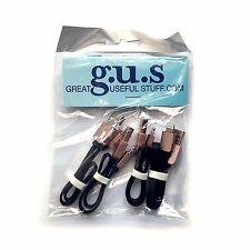 "Set of 4, Short/9"" USB to Apple Lightning Cables - Black. BRAND NEW!"