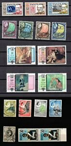 SWAZILAND 1938 - 1979 . Accumulation of MNH and Used stamps
