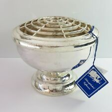Vintage Mayfair Silverplate Flower Posy Rose Floral Dotted Style Bowl, England