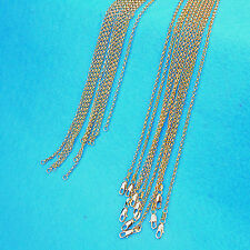 5X Wholesale Fashion Jewelry 18K Gold Filled Cross Necklaces Chains For Pendants
