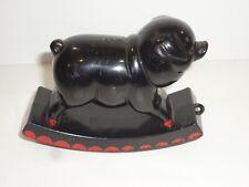 "Vintage Plastic Pig Baby Rattle by Knickerbocker 5"""