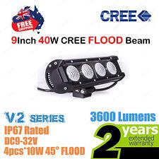 9inch 40W CREE LED Light Bar FLOOD Beam SINGLE ROW V2 Series Car Truck 4WD ATV