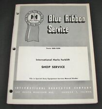 Ih Blue Ribbon Service International Harlo Forklift Shop Service Manual