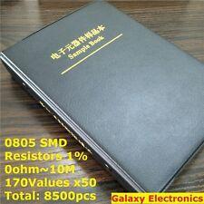 0805 1 Smd Smt Chip Resistors Assortment Kit 170values X50 Assorted Sample Book