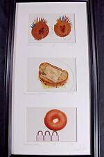 FOOD Play on Words PHOTOGRAPH Framed Michael Crane Punkin' Donuts Locks & Bagel