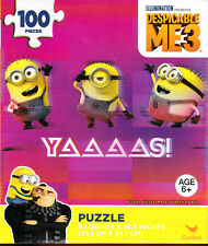 "Jigsaw Puzzle DESPICABLE ME 3 - MINIONS 100 pieces 9"" x 10"""