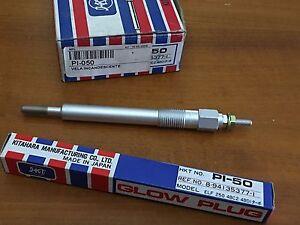 4 pcs Kitahara Glow Plug HKT PI-50 PI50 ISUZU ELF 250 350 FRR 24V