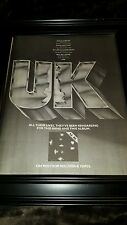 U.K. John Wetton Bill Burford Rare Original Promo Poster Ad Framed!
