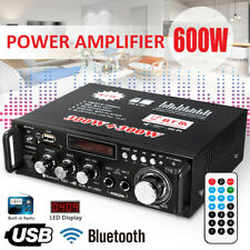 600W Digital Amplifier HIFI bluetooth Stereo Audio AMP USB*SD FM Mic Car Home