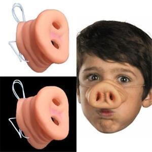 Pink Pig Nose Costume Hog Boar Snout Noses Rubber Joke Novelty Gag Gift CF