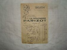 old vintage 1920's france french food moutard PARIZOT Advertise letter logo card