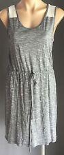 Easy 2 Wear TEASEL Black & White Stripe Drawstring Waist Stretch Dress Size 12