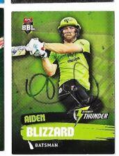 Aiden Blizzard  (Sydney Thunder)  signed L/Edition Cricket Card +COA