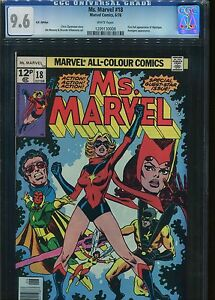 Ms Marvel #18 CGC 9.6 U.S Published U.K Pence cover price Variant (1 st Print)