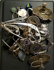 55 Grams Sterling Silver Scrap With Stones Lot D-3