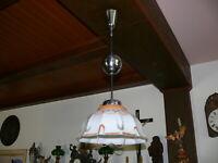Rarität Original Art Deco Deckenlampe ca. 1925 Zuglampe höhenverstellbar 60 -120