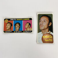 1970 TOPPS #6 #80 LEN WILKENS / ASSISTS LEADERS FRAZIER/ HASKINS/WILKENS HOF LOT