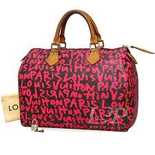 Louis Vuitton Speedy 30 Graffiti Pink M93704 Monogram Handbag Stephen Sprouse LV