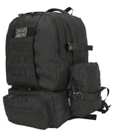 Army Rucksack Military Combat Daysack Backpack Tactical Molle Expedition Black