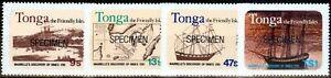 Tonga 1981 Becentennary Discovery of Vava`u Specimen set of 4 SG793s-796s Fin...