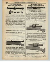 """1937 PAPER AD Rifle Telescope Marlin Mossberg Weaver 12.5"""" 4 Four Power"""