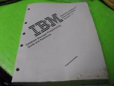 IBM OS/2 EXTENDED SERVICES 1.1 DATABASE MANAGER PROGRAMMING GUIDE & REFERENCE