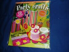 FanCraftic PARTY CRAFTS Book w/ CD 0972405100 LN Create Crafts w/Computer $0 S/H