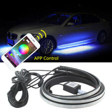 4x RGB LED Neon Light Strip Tube Car Body Underglow Phone Control 120CM 90CM Kit