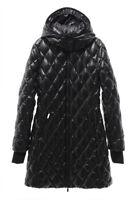DIANE VON FURSTENBERG $595 NEW 2774 Quilted Hoodie Puffer Womens Jacket Coat M