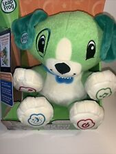 Leap Frog My Pal Scout Green Plush Interactive Puppy Toy Learning Talking