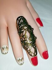 ANTIC GOLD FASHION LONG STATEMENT RING SIZE 7.5