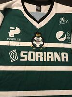 Vintage Club Santos Laguna Jersey Men Size XL New (Autographed Players Jersey)