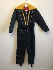 Vintage1 Piece Ski Doing/ Snowsuit Youth Size 10 Made in Canada GUC  Full Zipper