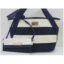 Tommy Hilfiger 6929239 423 Tote Bag MN FL With Pouch Stripe Cream Navy Agsbeagle