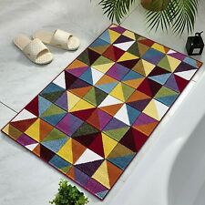 Non Slip Triangles 60x110cm Bath Mat Soft Thick Large Bathroom Rug Shower Mats