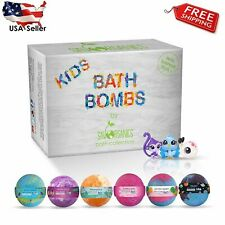 Kids Bath Bombs Gift Set with Surprise Toys Inside Fun Assorted Colored Xl Bath