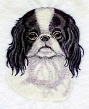 Embroidered Short-Sleeved T-Shirt - Japanese Chin Bt3586 Sizes S - Xxl