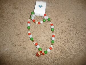 NEW NWT Childrens Place girls Christmas beaded present necklace/bracelet set