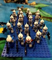 21 Pcs Minifigures Star Wars Clone Trooper Blue Commander Lego MOC Captain