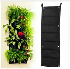 Hanging Plant Pots Wall Vertical Garden Flower Tower Space DIY Home Pocket Herb