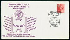 Mayfairstamps Great Britain 1977 Grand Lodge Monmouthshire Cover wwm_52601
