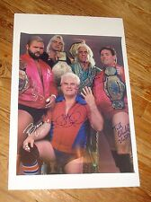 Complete NWA The Four Horsemen SIGNED 18x24 Windham Flair, Tully, Dillon Arn