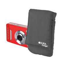 Black Cushioned Camera Pouch For Vivitar ViviCam 7025 &ViviCam X225 w/ Belt Loop