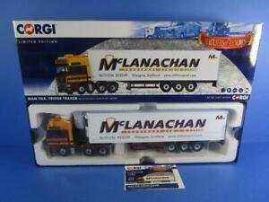 CORGI CC15212 MAN TGX FRIDGE TRAILER MCLANACHAN TRANSPORT,CERT No.4, MIB!