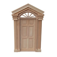 Wooden 6 Panel Door Model Toy DIY Miniature Doll House Decor Accessory Eager