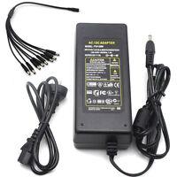 12V 2A 3A 5A 8A 10A DC Power Supply+Splitter Cable for CCTV Security Camera DVR