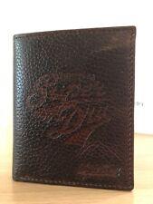 Superdry Mens Embossed Leather Bi Fold Wallet - Brown BNWT