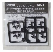 Rokuhan A021 Snap in Coupler European Type Coupler Short 6 pcs.1/220 Z Scale