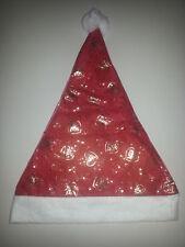 Nikolausmütze Weihnachtsmütze Motiv Glocken Gold Nikolaus Hut Weihnachtsmann NEU
