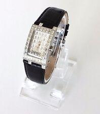 Esprit Damen Uhr schwarz Leder Steine EL101232F02
